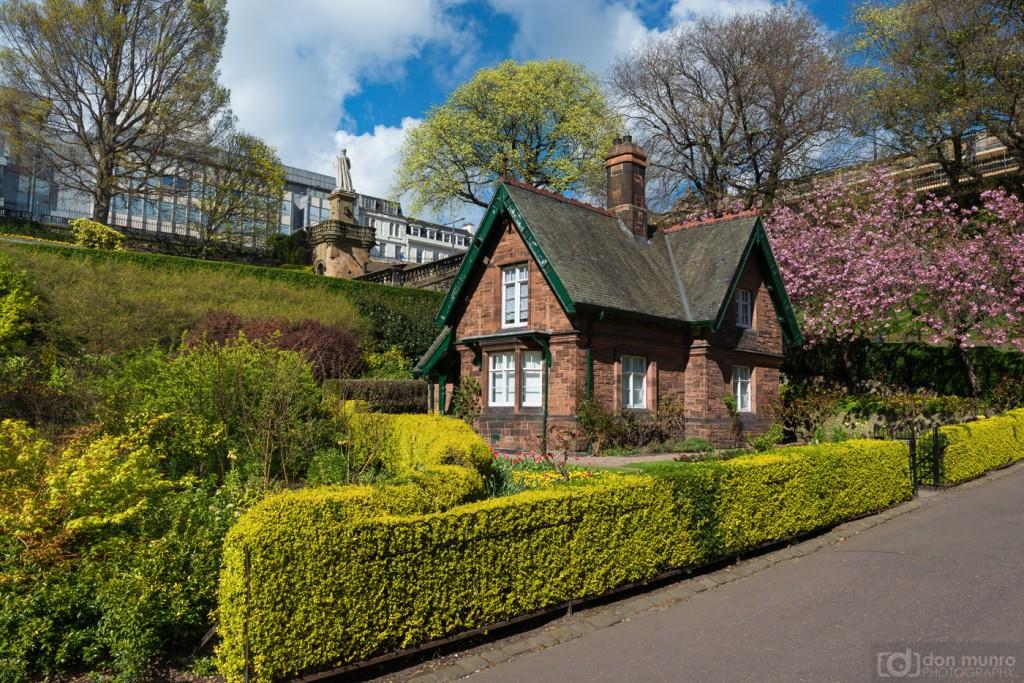 Gardeners Cottage, Princes Street gardens.