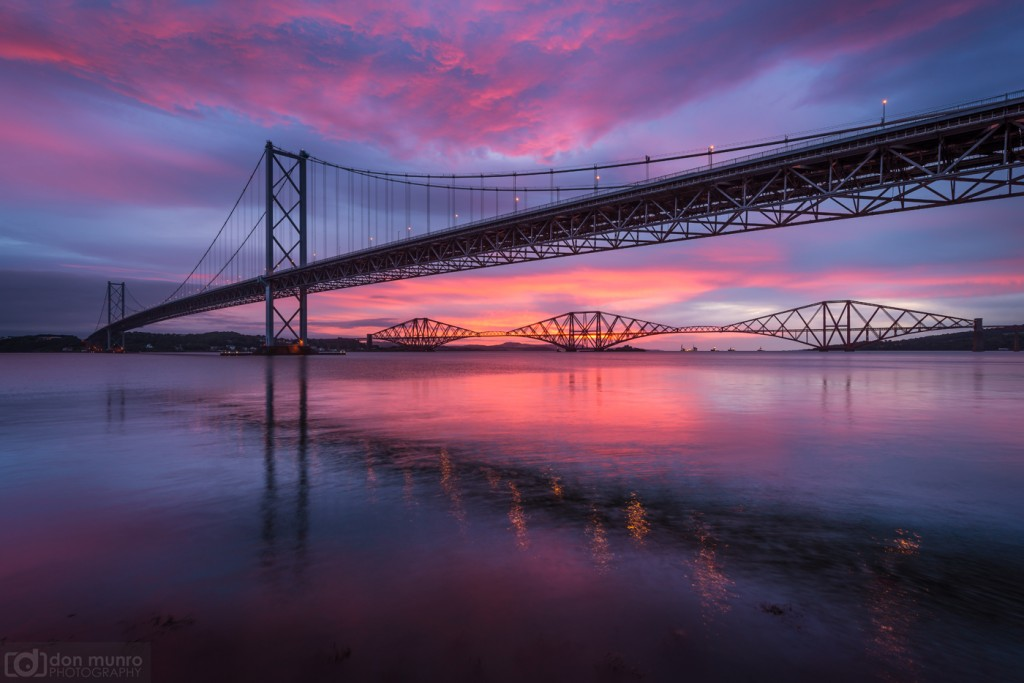 Forth bridges sunrise.