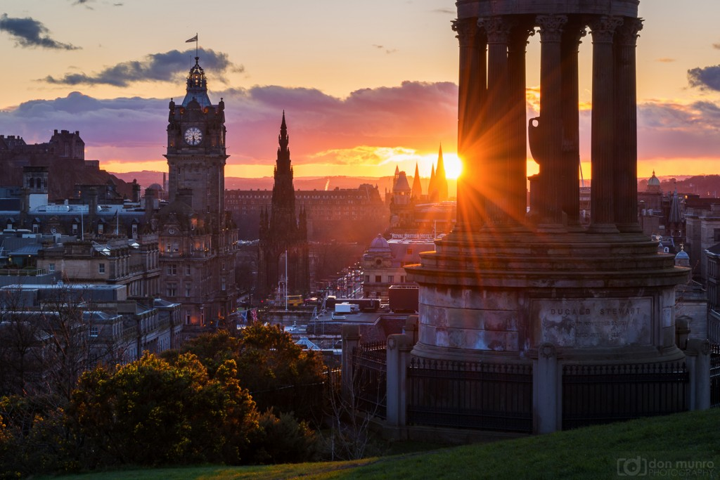 Calton Hill sunset.
