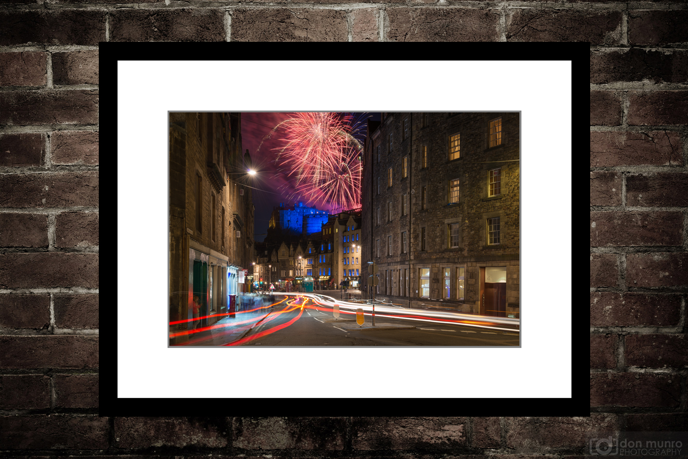Fireworks Over The Grassmarket.