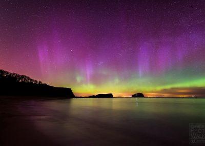 Aurora over the Bass Rock