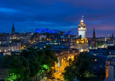 Calton Hill view at twilight