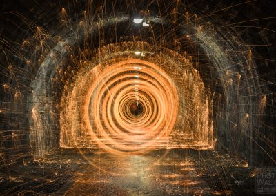 Fire spinning, Innocent Railway tunnel