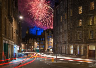 Fireworks over Edinburgh Grass Market