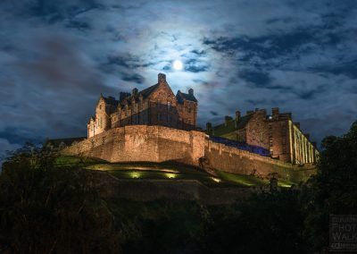 Moonrise over Edinburgh Castle