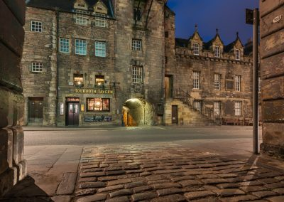 The Canongate Tolbooth at twilight
