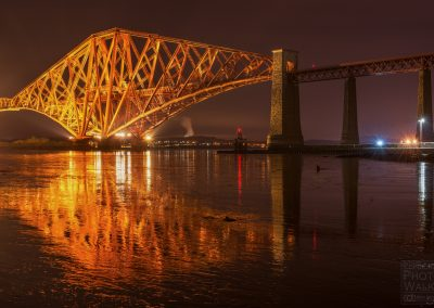 The Forth Bridge at night