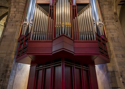 The organ within St. Giles