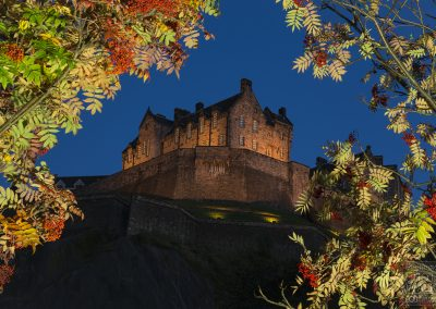 Castle view in autumn