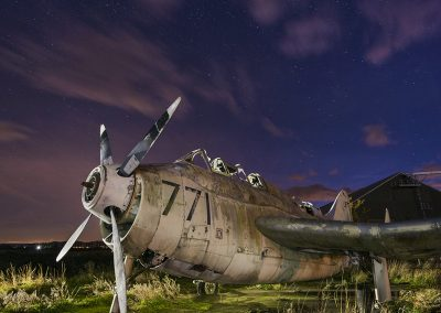Light painting an abandoned plane