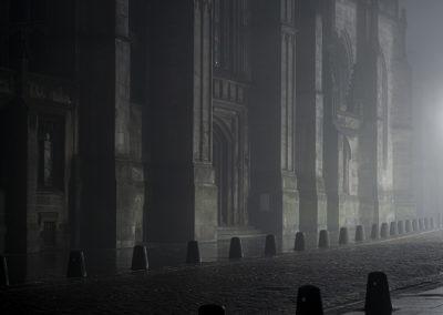 St. Giles in fog