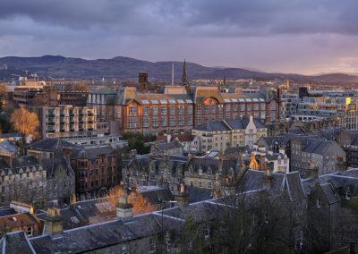 Sunset from Edinburgh Castle