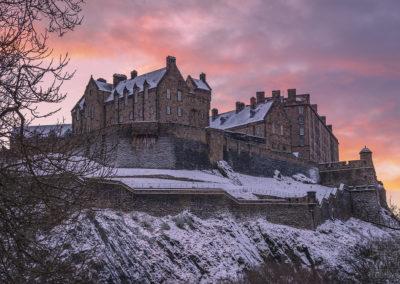 Winter Sunset over Edinburgh Castle
